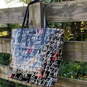 Kate Spade Oh Ooh La La Heart French Tote Bag